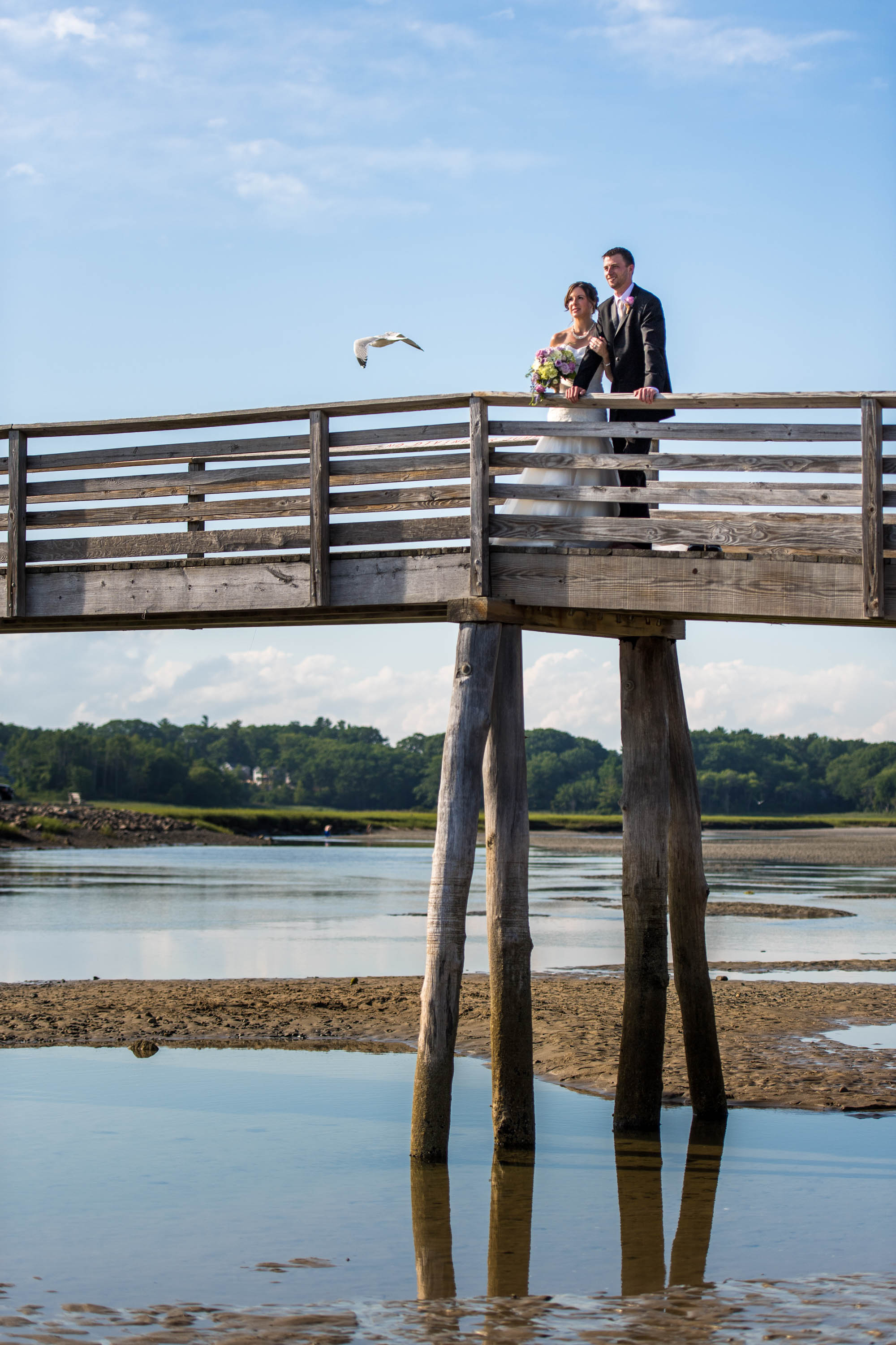 Wedding Couple on Pier