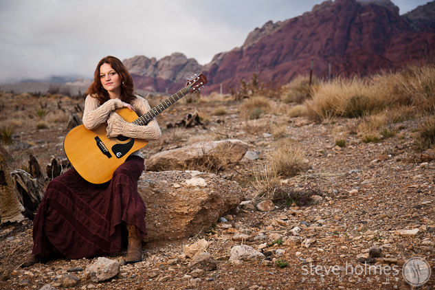 Guitar in the desert.
