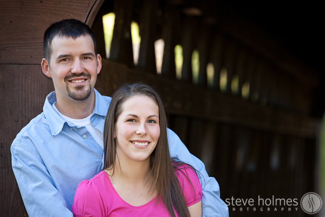 Portrait by the covered bridge.