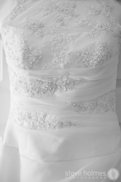 Ashley's wedding dress.