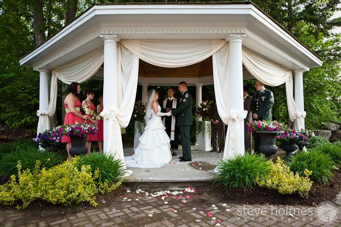 Wedding ceremony at Hidden Hills in Rindge, NH