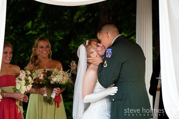 Wedding kiss.