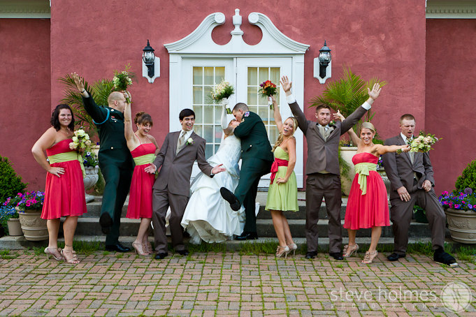 We had a lot of fun with the wedding party photos.