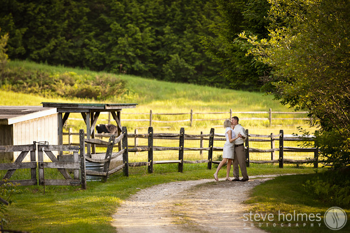 Engagement session at Stonewall Farm in Keene, NH.