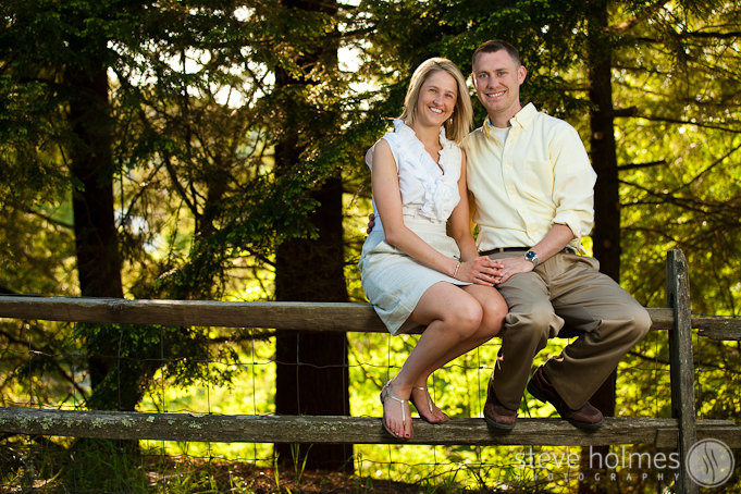 Afternoon light filtered through the trees for this portrait