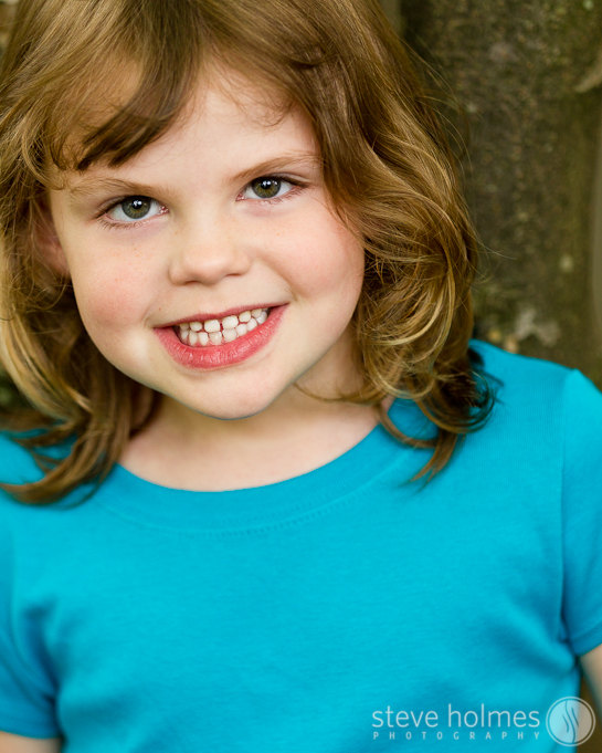 We created a nice series of individual color and black and white portraits for each child.