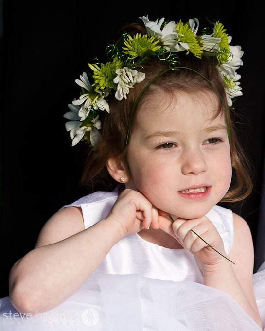 The flower girl and ring bearer seemed more relaxed once they had complete their important jobs.