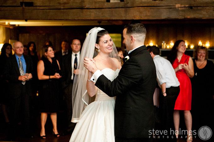 Matt and Jill share their first dance as a married couple