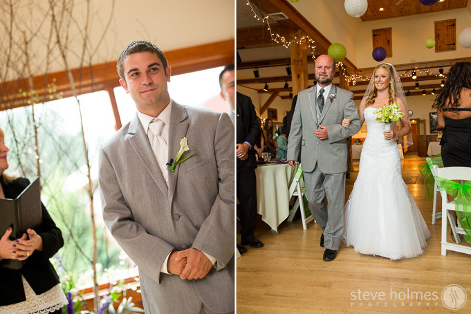 I love it when a bride and groom choose to see each other before the ceremony, but first looks are always so full of excitement and emotion whether they occur before or as the bride is walking down the aisle.