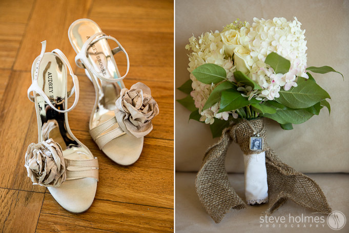 Taryn wore these beautiful heels and bouquet