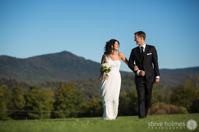 Taryn and Evan had a beautiful day at The Mountain Top Inn in Chittenden, Vermont