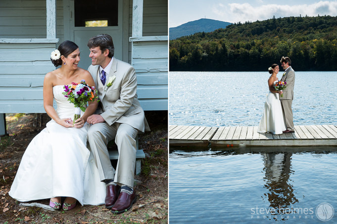 Amy and Robert had their wedding on one of the last few days left of summer weather