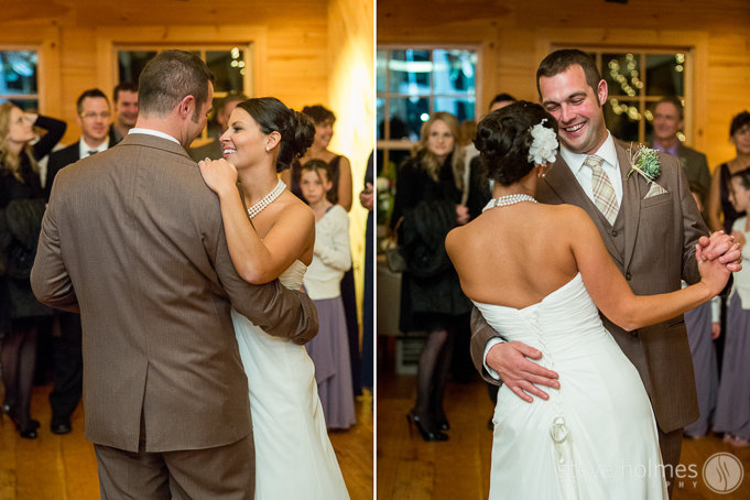 Meghan and David sharing their first dance as husband and wife
