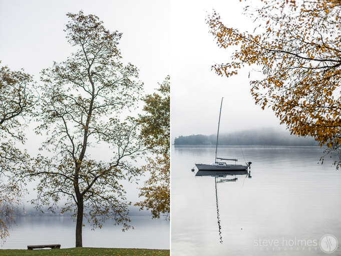 It was a Foggy wedding morning at the Inns at Mills Falls
