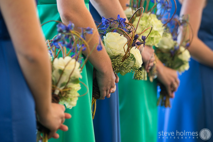 I love the wedding day bouquets and arrangements