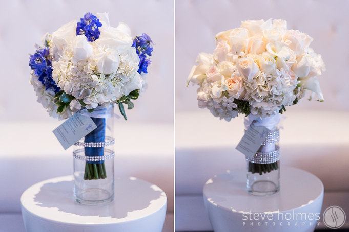 Tanya's flowers featured a simple and beautiful pallete of colors.