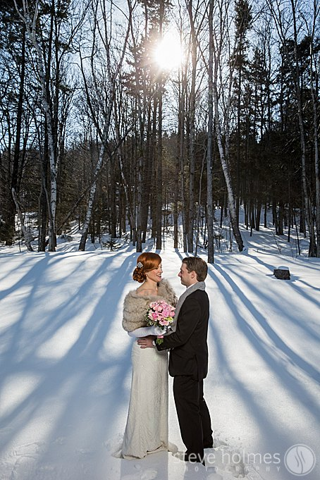 Stunning light for the couples winter editorial photo session.