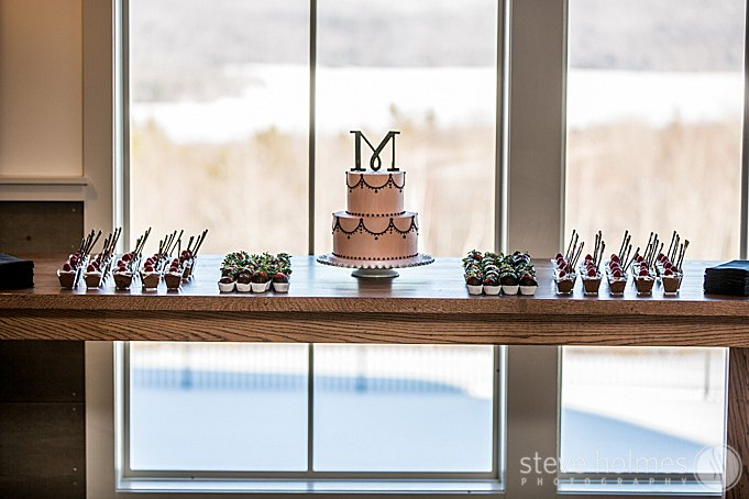 Dessert table with breathtaking views at The Mountain Top Inn & Resort.