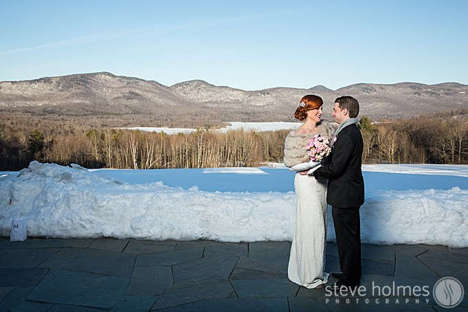 An amazing mountain backdrop for the editorial bride and groom photos.