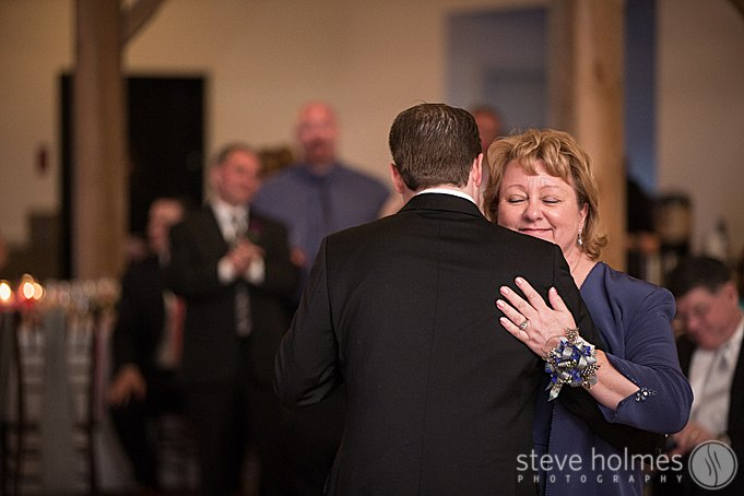 The mother son first dance.