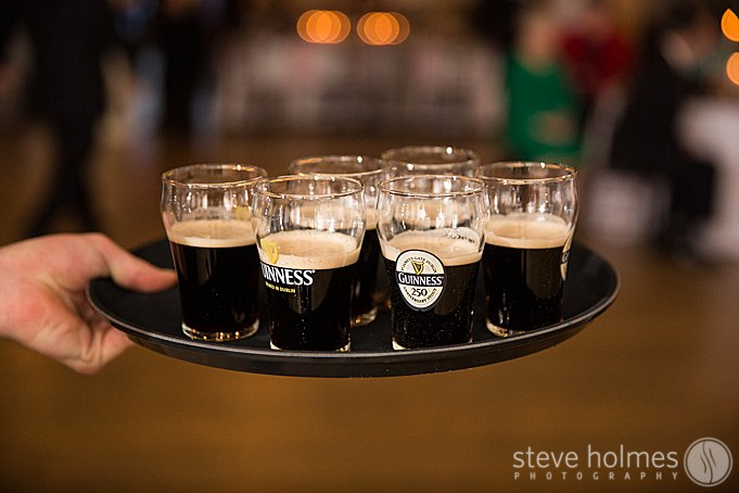 A nice touch of Guinness for the toasts.
