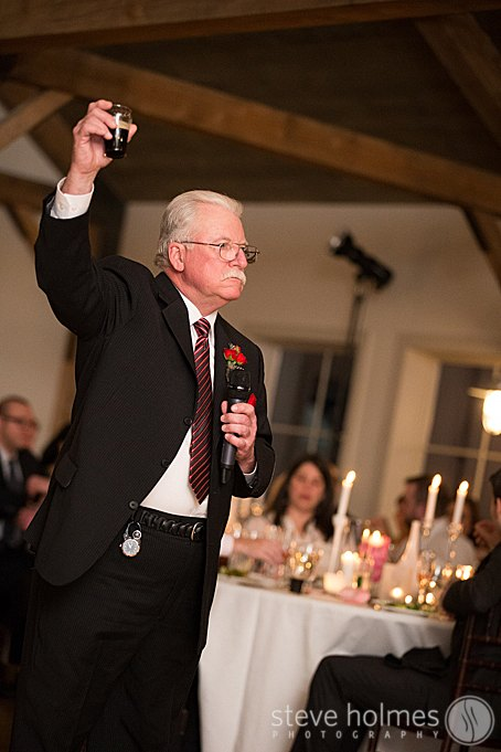 A toast by the father of the bride.