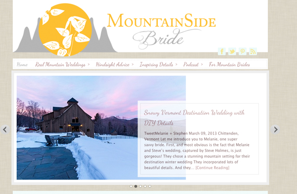 A winter destination mountain wedding featured on MountainSide Bride.