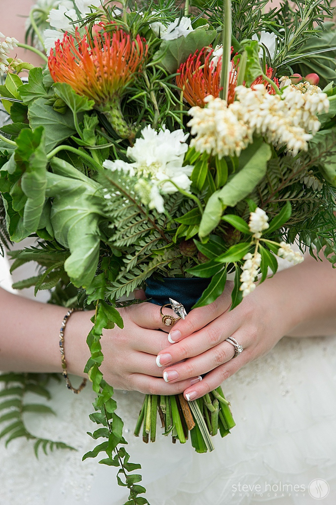 The bridal bouquet by Embellish Floral Studio in NH.