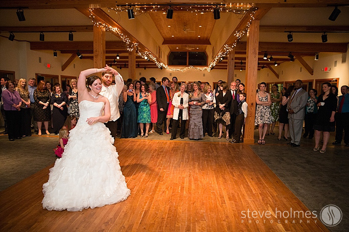 The couples first dance at Alyson's Orchard.
