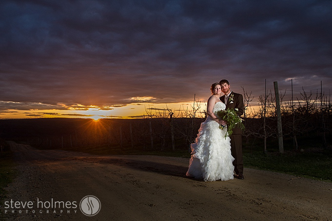 A beautiful sunset at Alyson's Orchard.