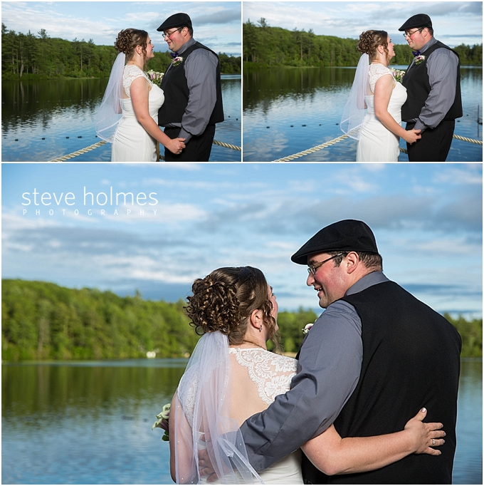 27_bride-groom-smiling-holding-hands-lake