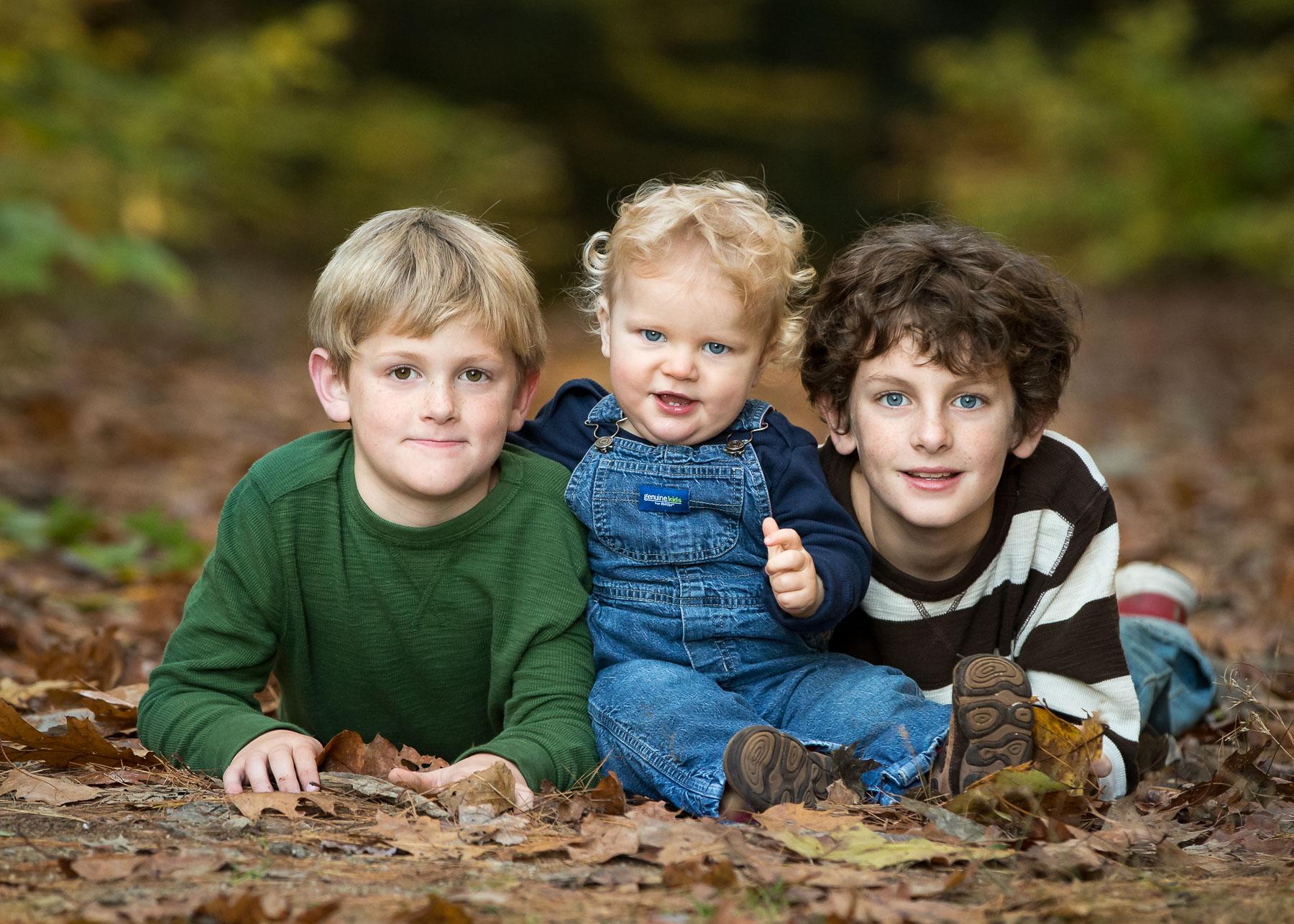 Fall portrait of children on-location in Keene, NH.