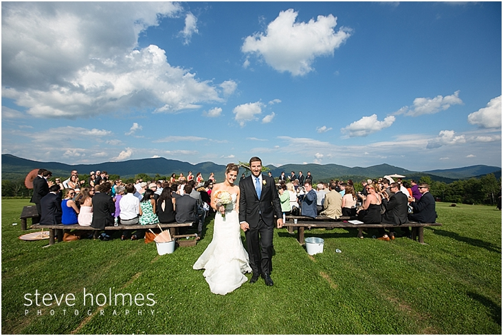 Mountain Top Inn Wedding In Chittenden Vt 50 Bride Groom Leave Ceremony