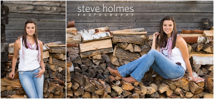 11_girl-by-wood-pile-for-senior-portraits