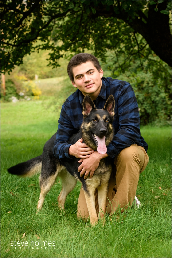 9_boy-posing-with-dog-for-senior-portrait-in-nh