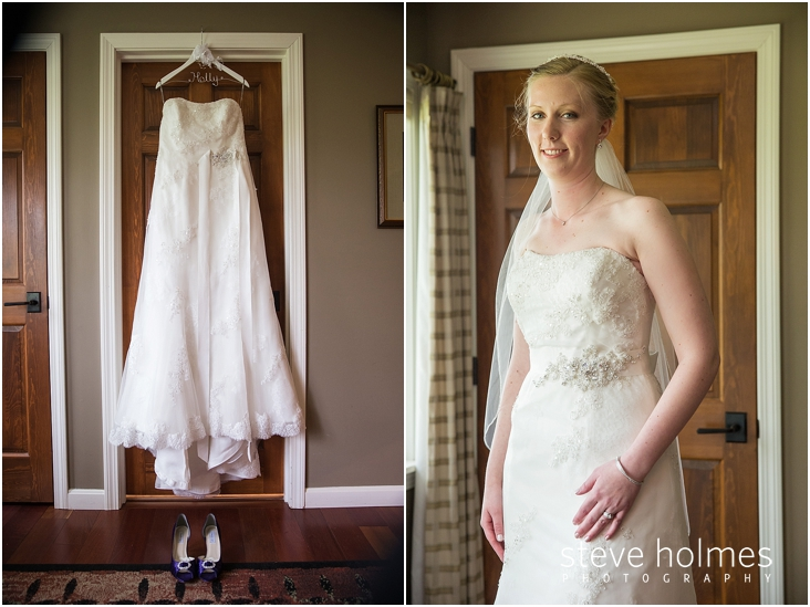 04_strapless-wedding-dress-on-hanger-in-doorway-with-purple-shoes-below