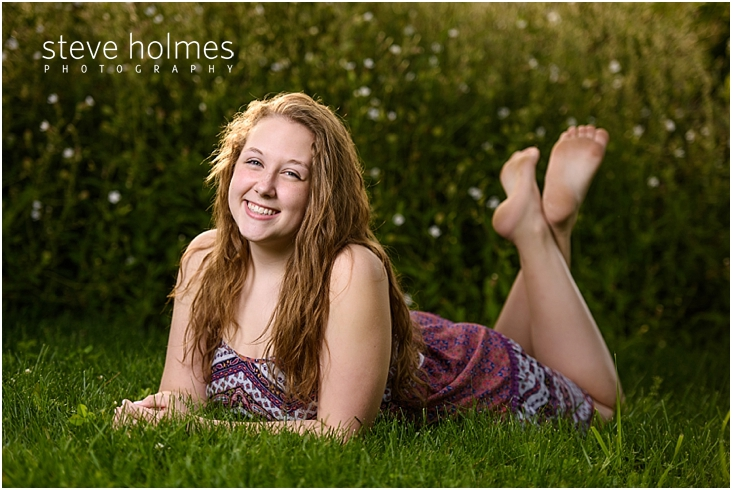 05_Keene-High-School-Senior-Pictures-Outdoors-Patterned-Dress