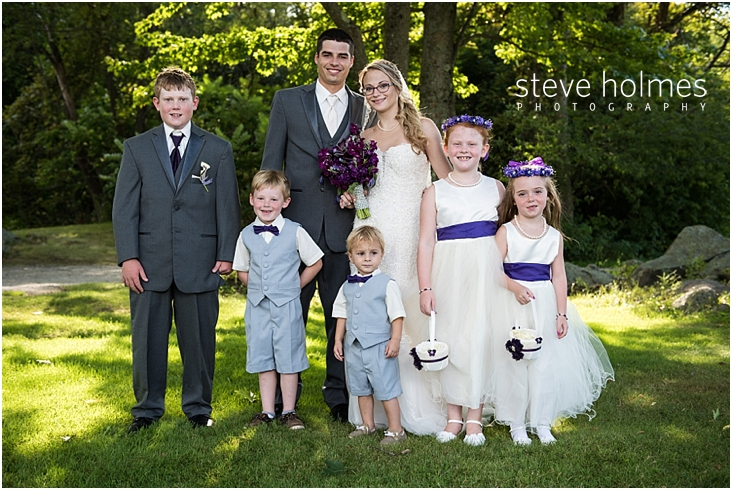 47_bride-and-groom-with-kids-in-wedding-party