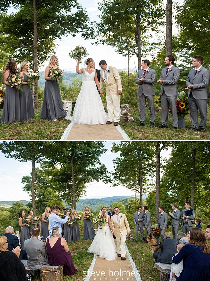 Bridal party claps as ceremony ends.jpg