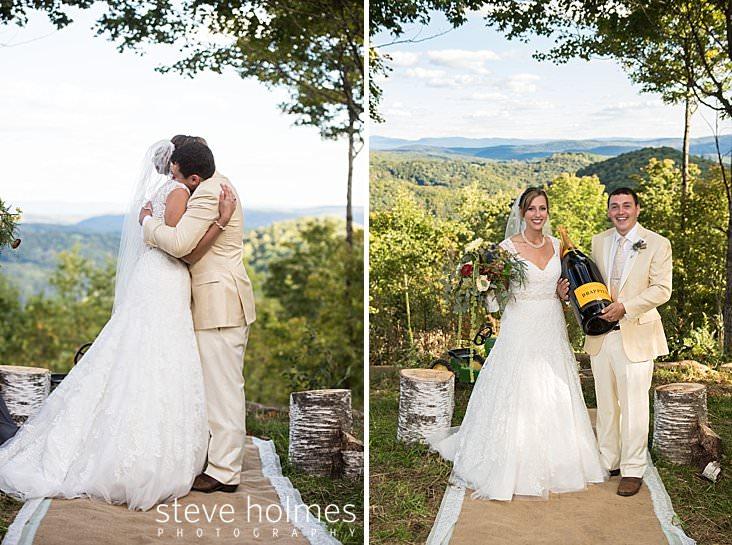 Bride and groom hug in outdoor wedding ceremony.jpg