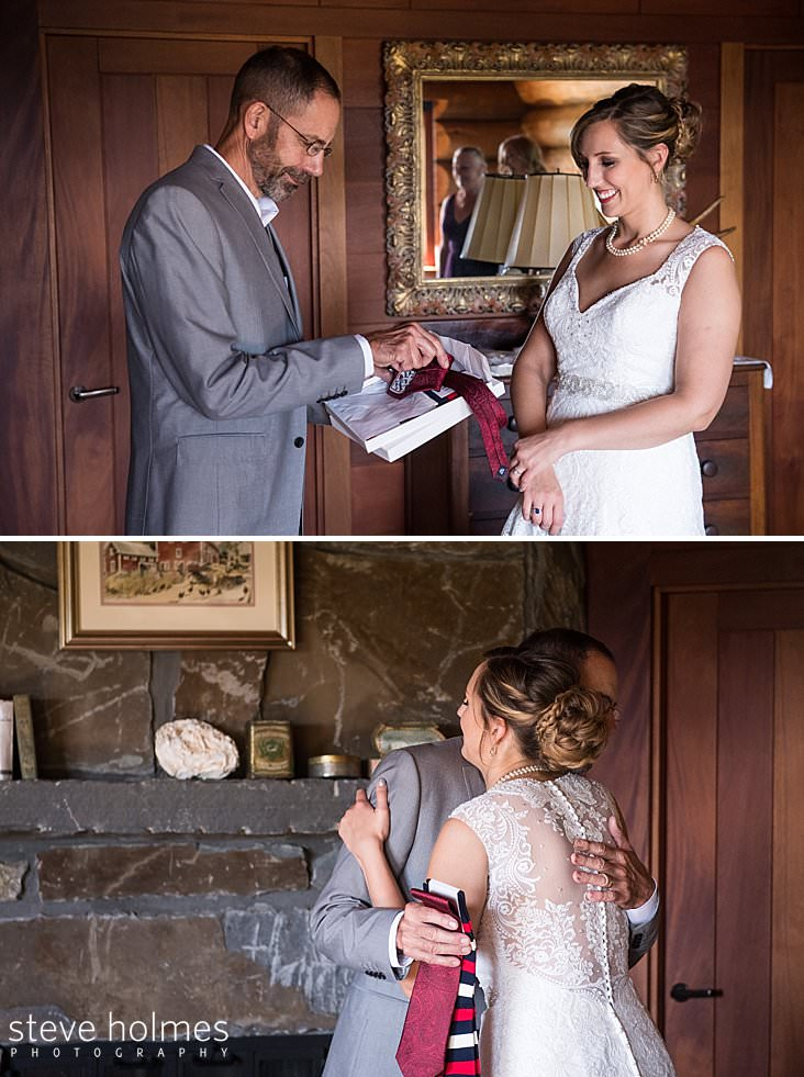 Bride gives tie as gift.jpg