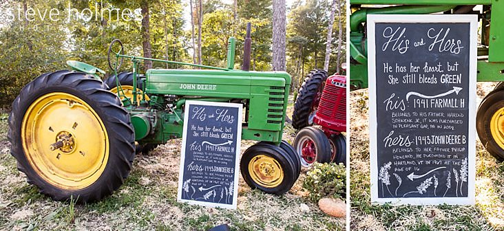 Old tractors displayed at wedding reception.jpg