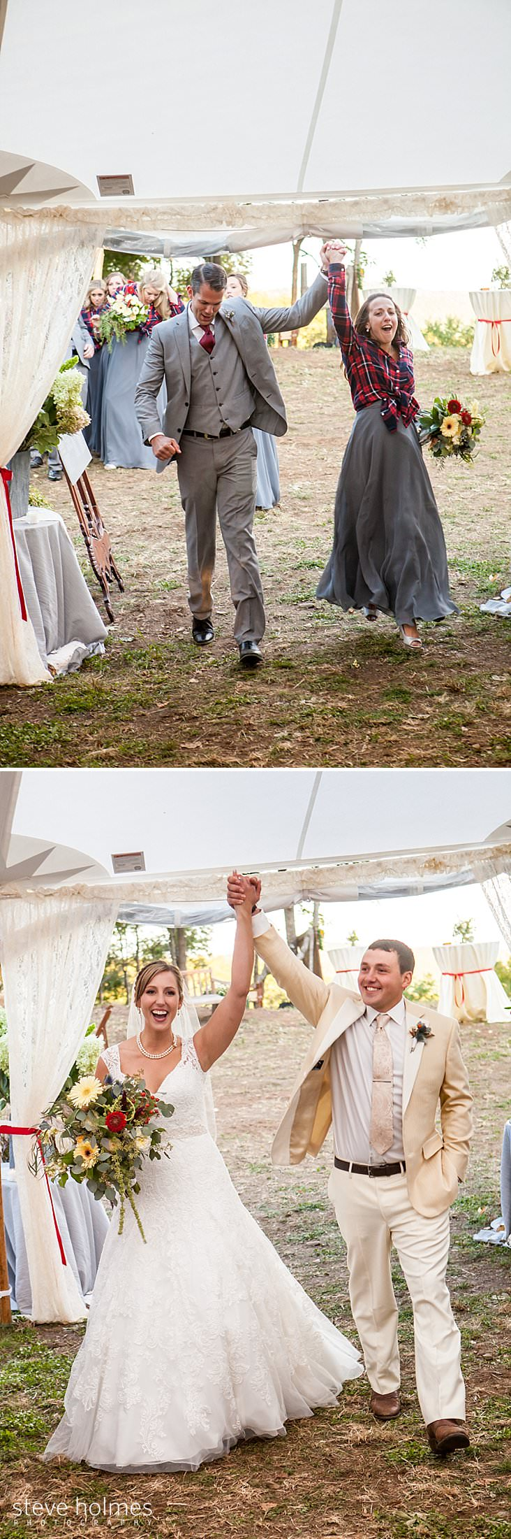 Wedding party enters the tent.jpg