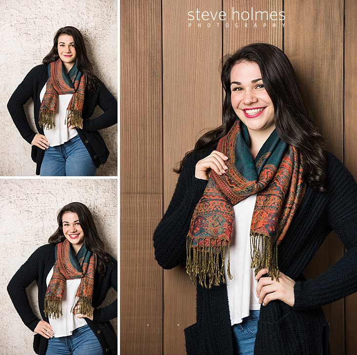 06_Studio portrait of brunette teen girl wearing colorful scarf, sweater and jeans.jpg