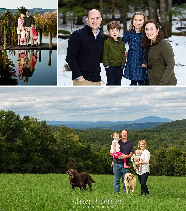 Family Portraits in three different locations