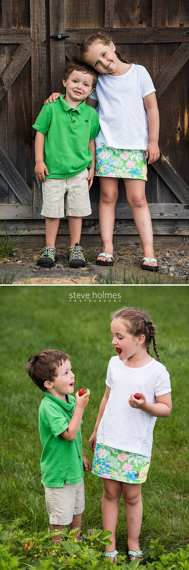 04_Two children pose for a photo against a barn door.jpg