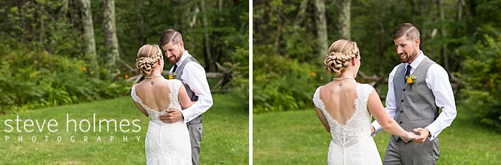 16_Bride and groom hold each other in first look ceremony.jpg
