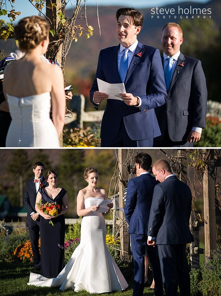 45_Groom reads his vows during outdoor wedding ceremony.jpg