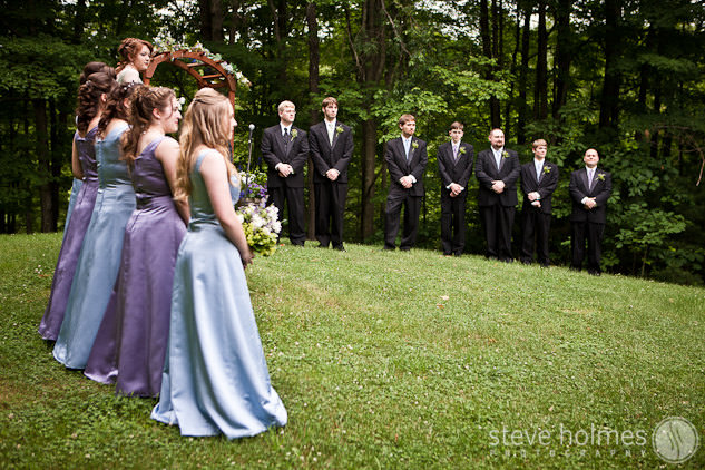Wedding Ceremony at Stonewall Farm