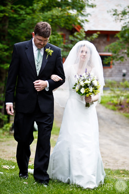 Bride and Father walk down isle